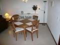 La section à manger de-la rentel appartement en Algarve.